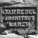 Laren, woning en kantoor Jan Rebel 1e steen (1917).jpg